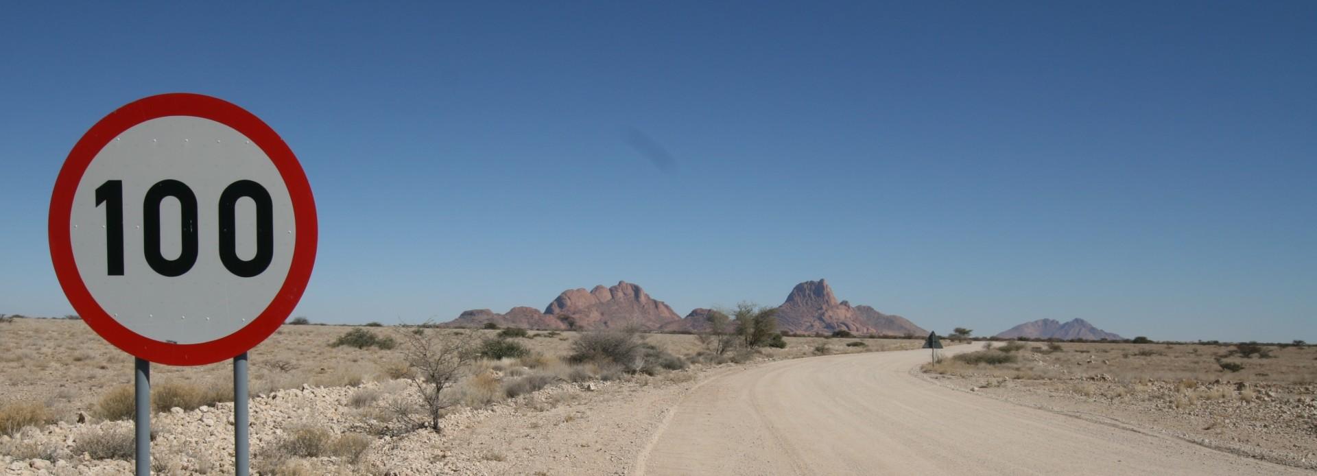 Namibia Straße zur Spitskoppe