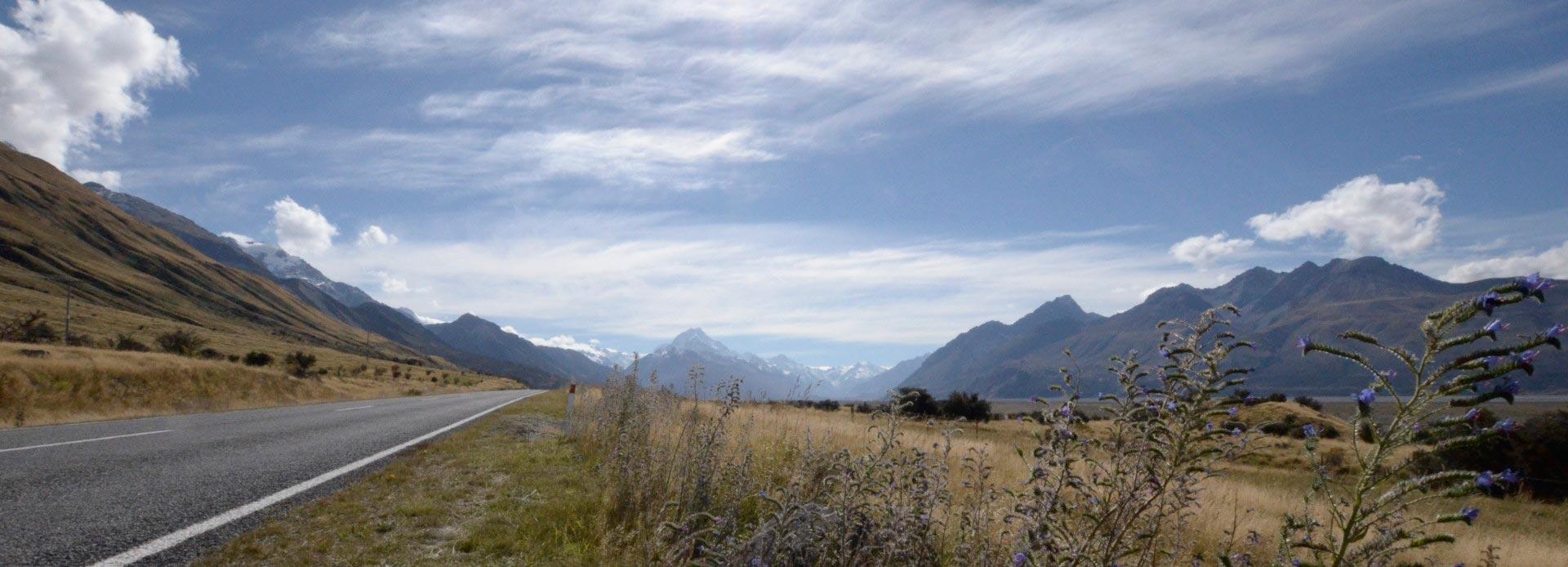 Neuseeland auf dem Weg zum Mount Cook