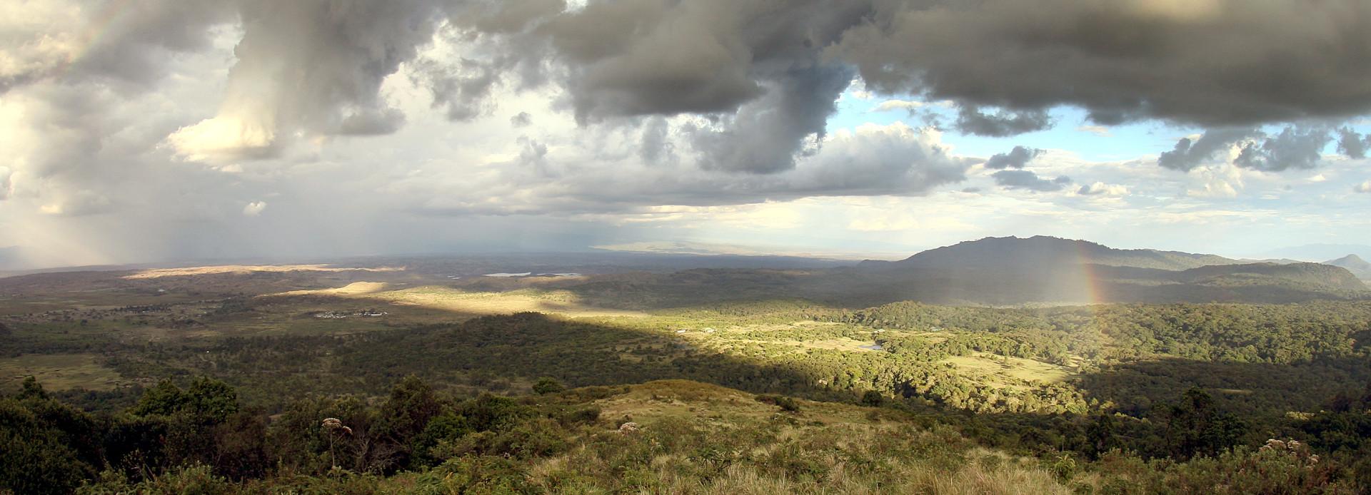 Tanzania Regenbogen im Arusha Park