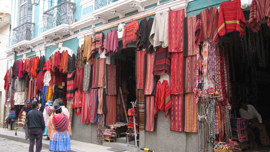 Bolivien Altstadt von La Paz Hexenmarkt