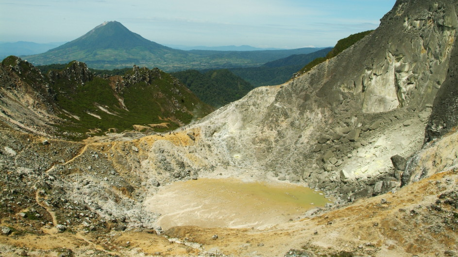 Indonesien Sumatra Sibayak Vulkan