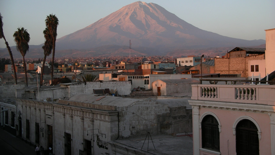 Peru Blick auf Arequipa