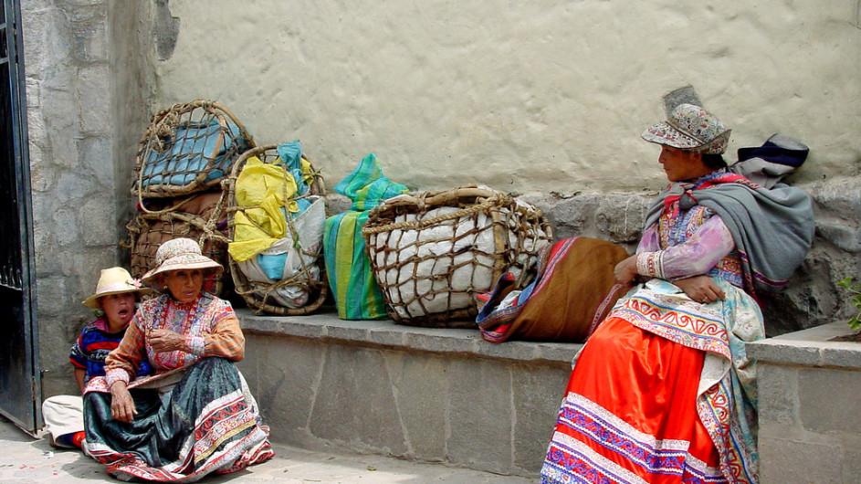 Peru Frauen im Colca Valley