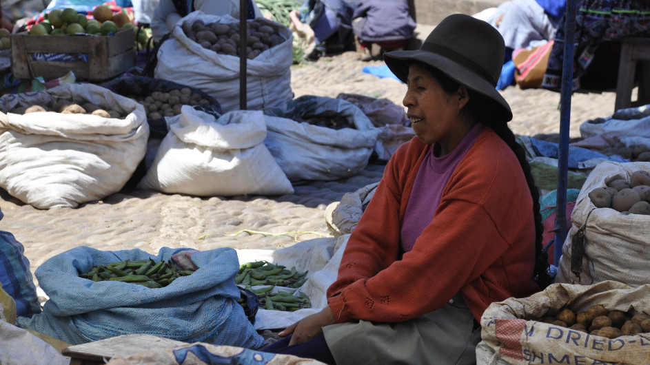 Peru Indiomarkt in Pisaq