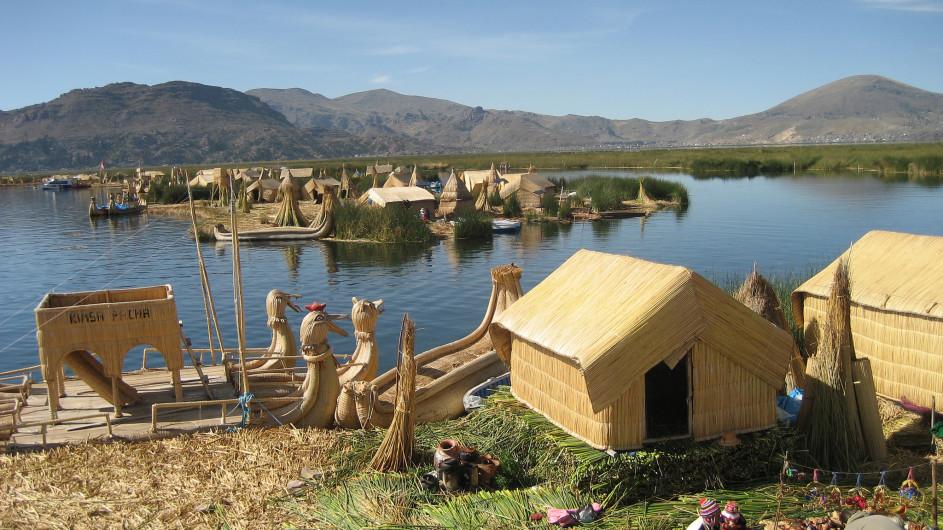 Peru Uros Insel am Titicacasee