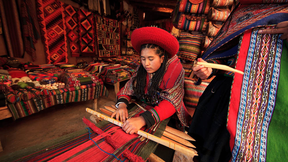 Peru traditionelles Weben