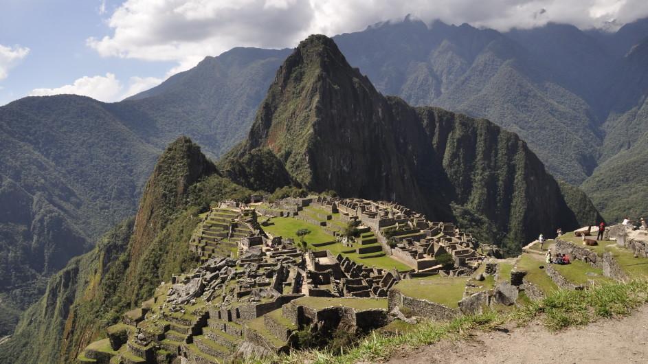 Peru Blick auf Machu Picchu