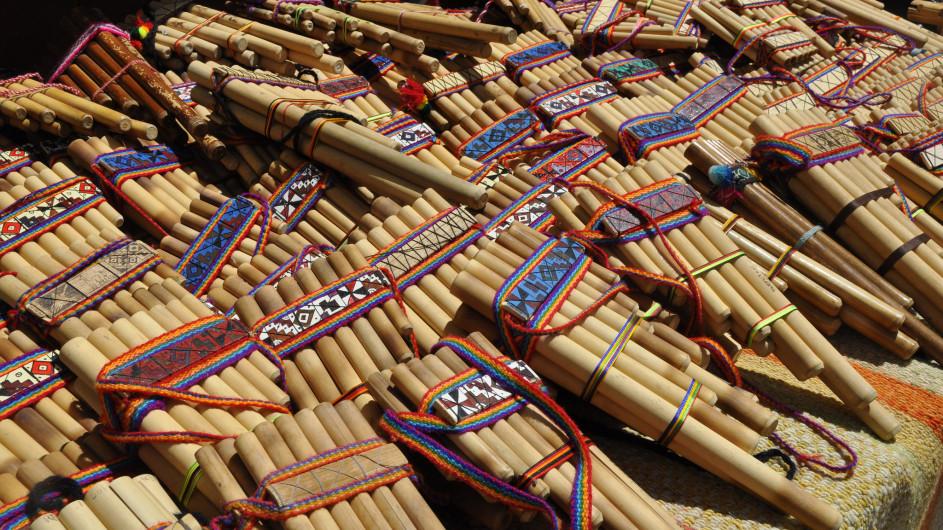 Peru Indiomarkt Pisaq Panflöten