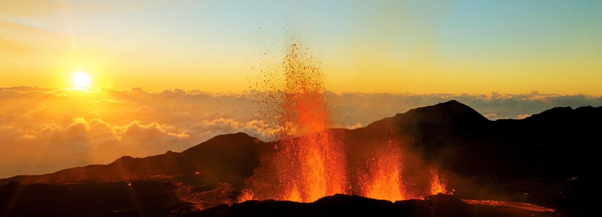 Vulkanausbruch am Piton de la Fournaise
