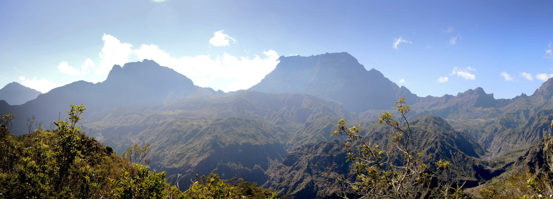 La Réunion Panorama im Talkessel von Mafate