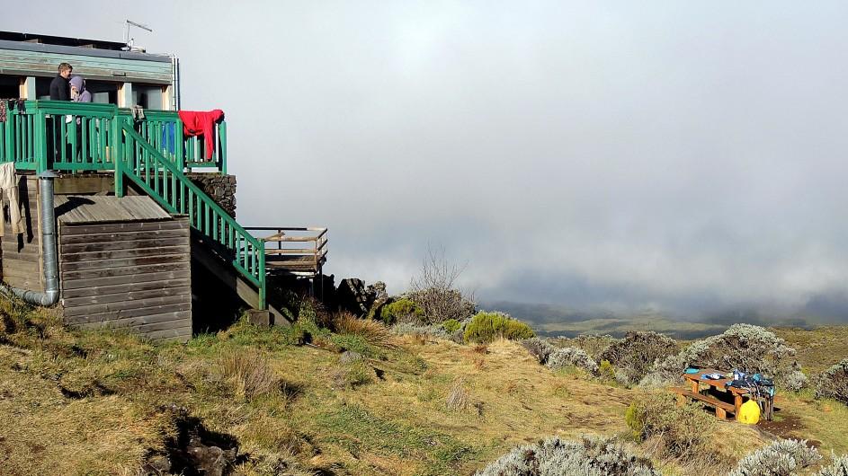 La Réunion Wanderhütte am Piton des Neiges