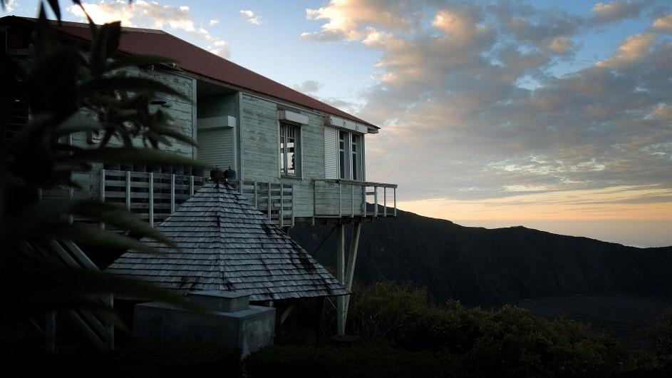 La Réunion Abendstimmung an der Gite du Volcan