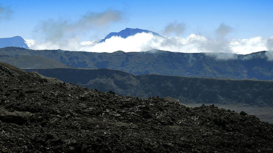 Panorama am Vulkan Piton de la Fournaise La Réunion