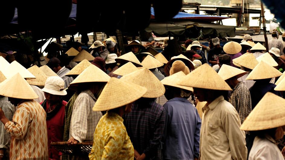 Vietnam Hüte in den Straßen von Hue