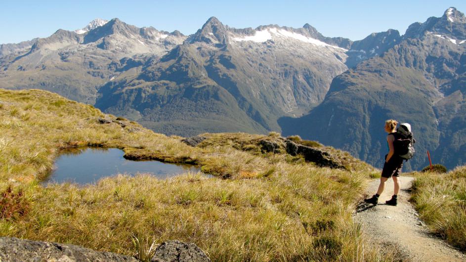 Neuseeland Wanderung auf dem Routeburn Track am Harris Saddle