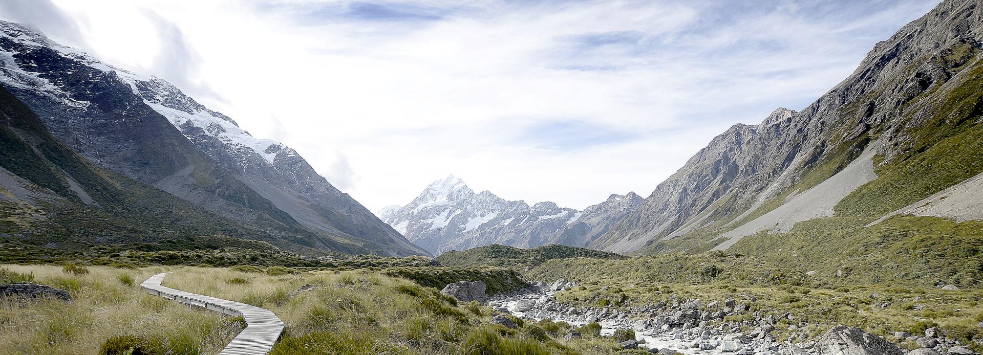 Neuseeland Wanderung im Hooker Valley