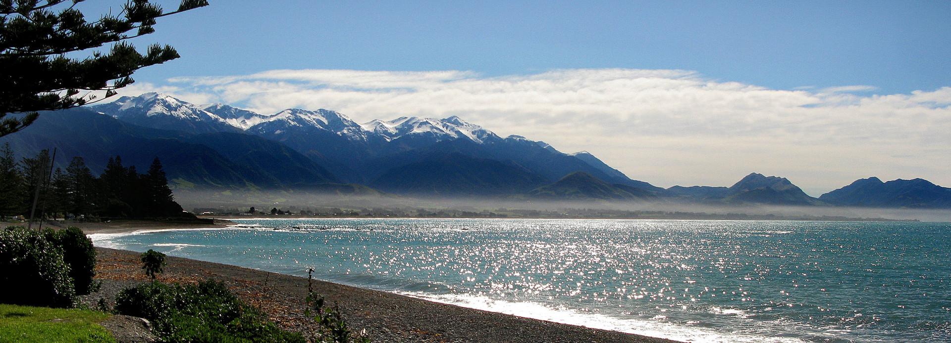 Neuseeland am Strand von Kaikoura