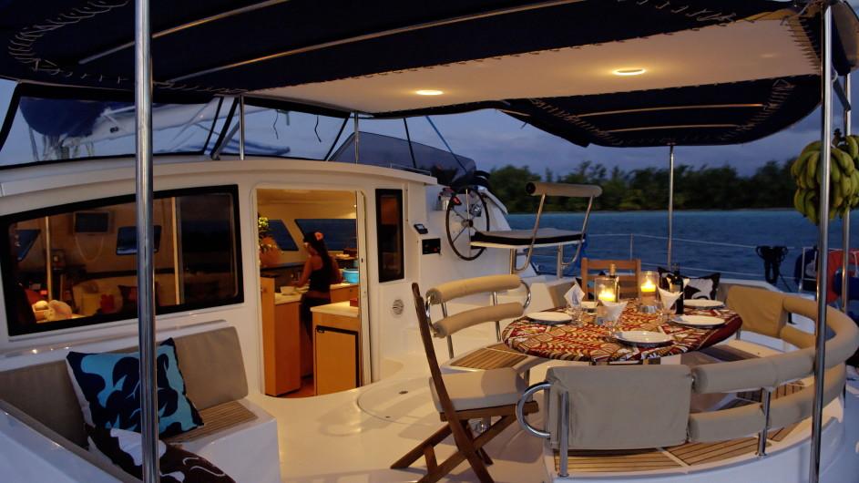 Französisch Polynesien - Archipels Cruises - Eleuthera 60 - Dinner