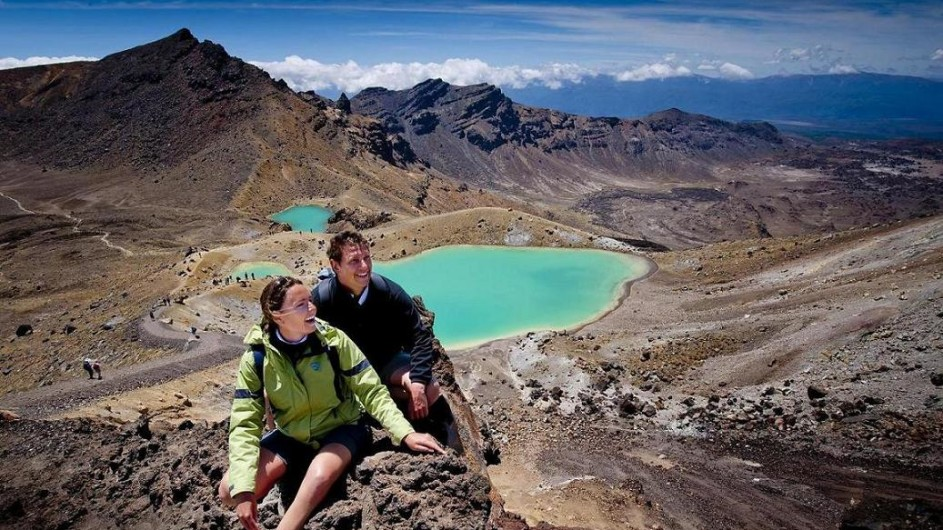 Neuseeland Tongariro Crossing Emerald Lakes