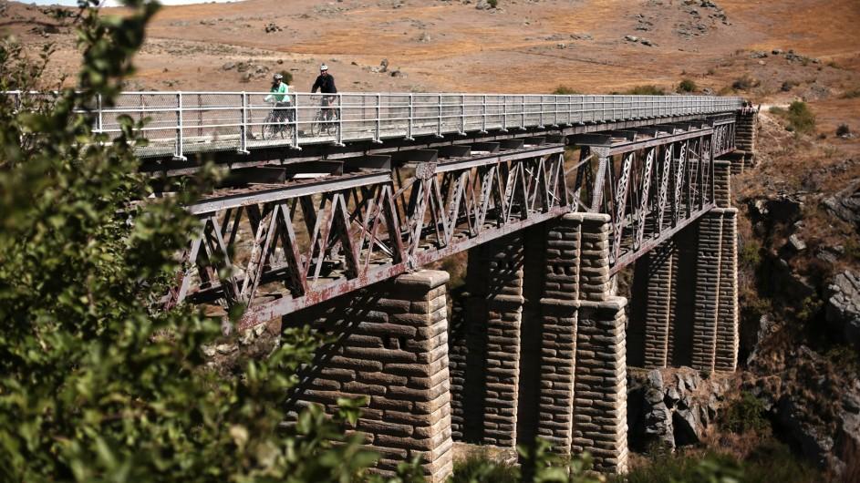 Neuseeland Otago Rail Trail Brücke