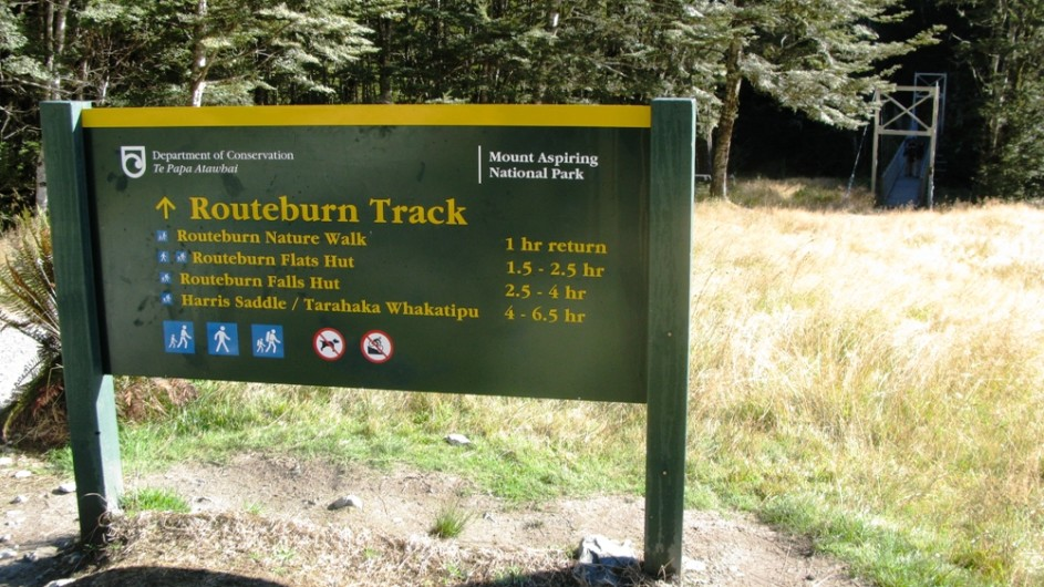 Neuseeland Routeburn Track Start