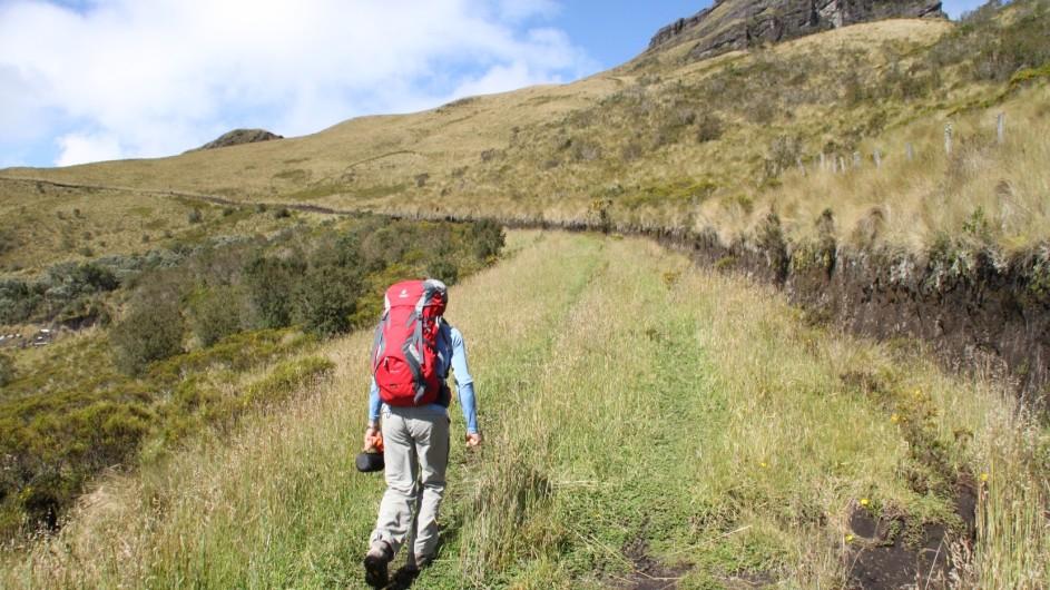 Ecuadort Wandern in den Anden