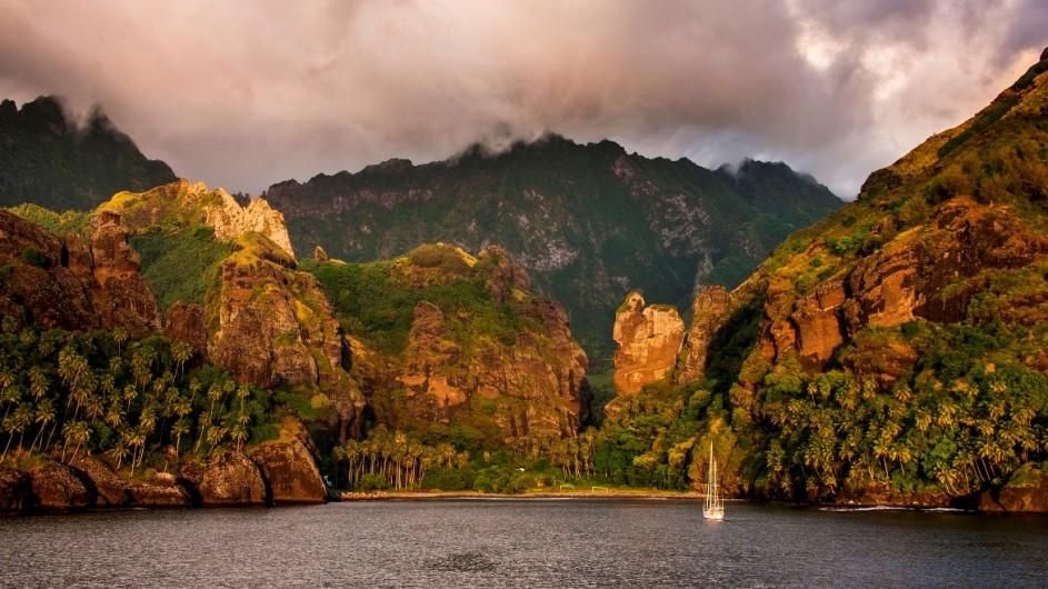 Französisch Polynesien Aranui Fatuiva Island