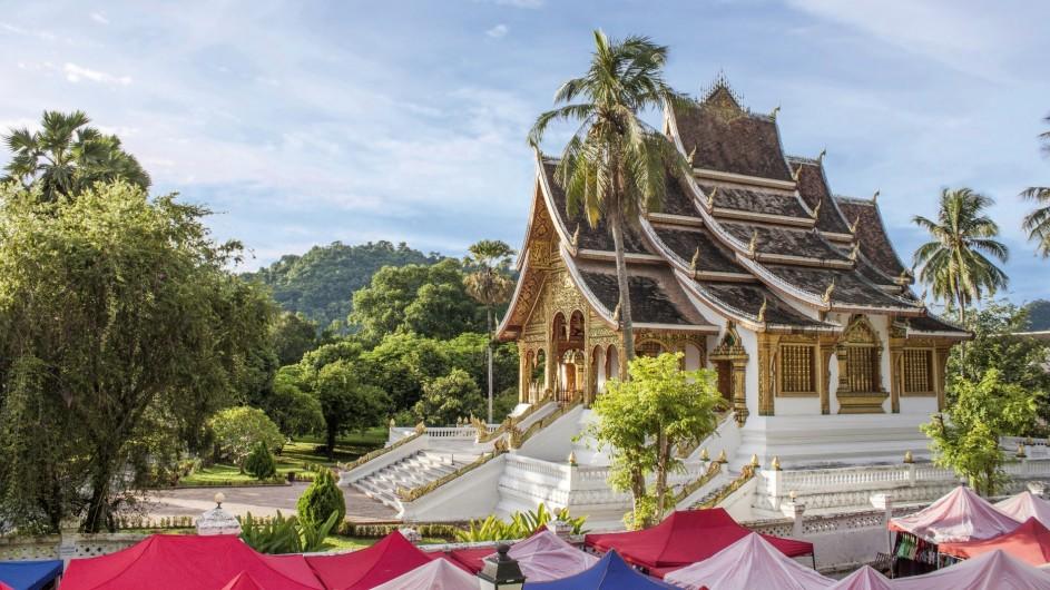 Laos Luang Prabang Ho Phra Bang Tempel