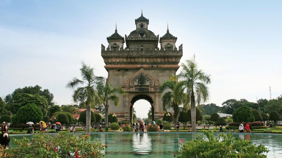 Laos Vientiane Arc de Triomphe