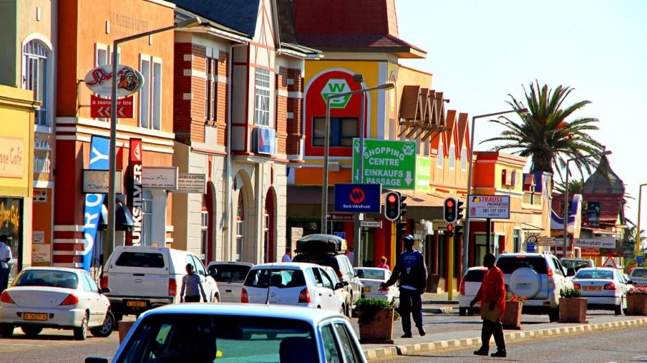 Namibia Hauptstrasse in Swakopmund