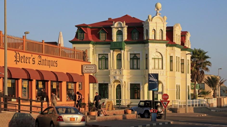 Namibia Strassenecke in Swakopmund