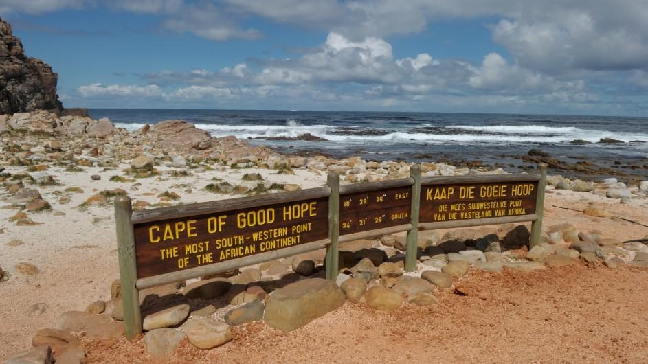 Südafrika Kap der Guten Hoffnung Schild