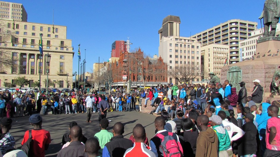 Südafrika auf der Straße in Pretoria