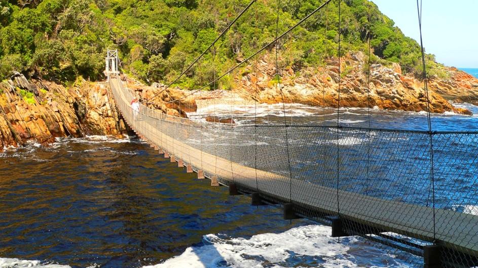 Südafrika Hängebrücke im Tsitsikamma Nationalpark