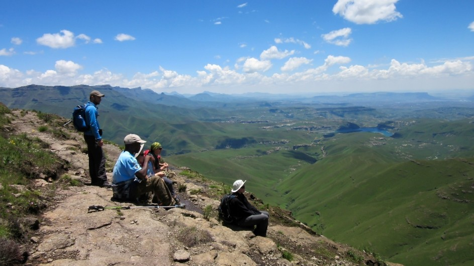 Südafrika Drakensberge Amphitheater