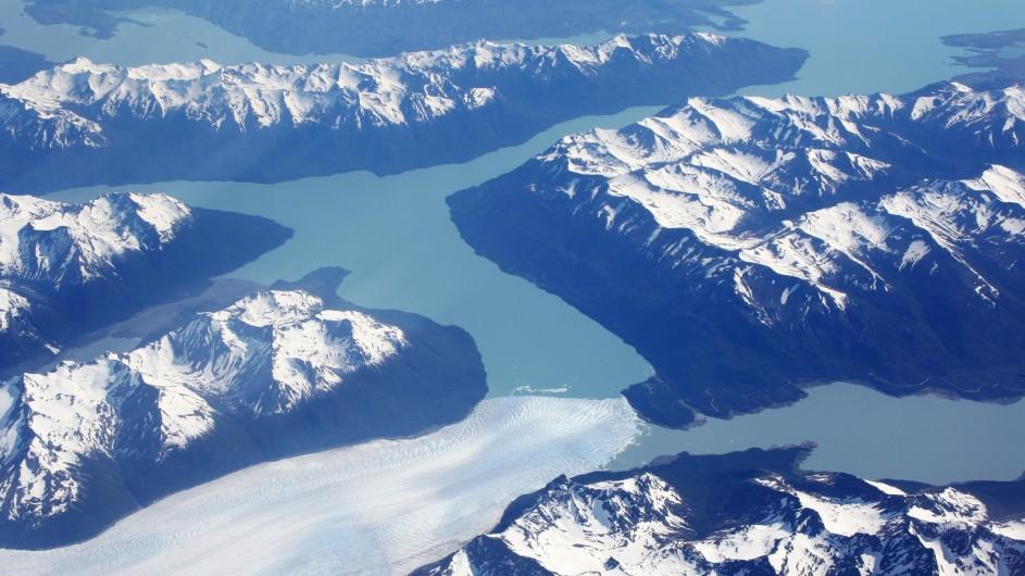 Argentinien Perito Moreno aus der Luft