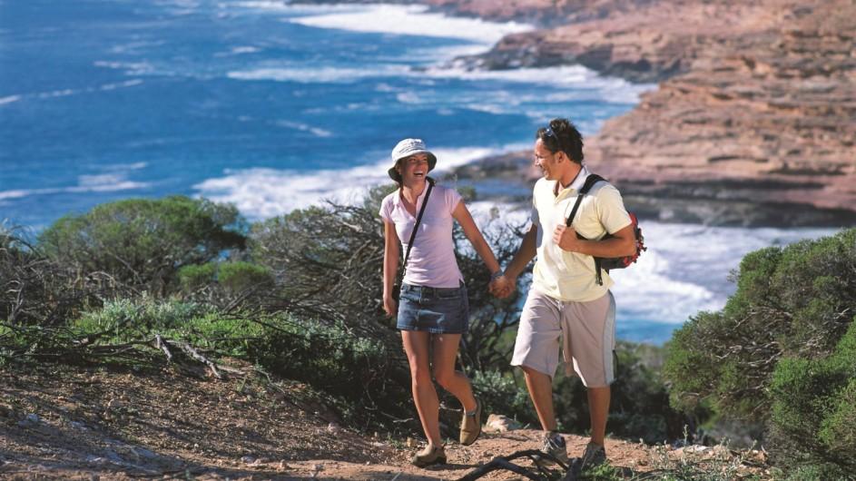 Australien Westaustralien Wandern an der Küste von Kalbarri
