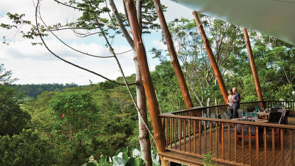 Australien Atherton Tablelands Rose Gums Wilderness Retreat Balkon