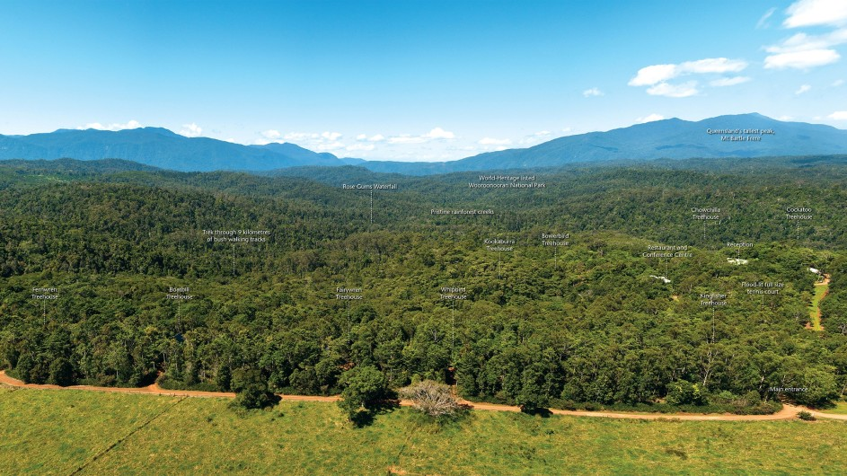 Australien Atherton Tablelands Rose Gums Wilderness Retreat Lageplan