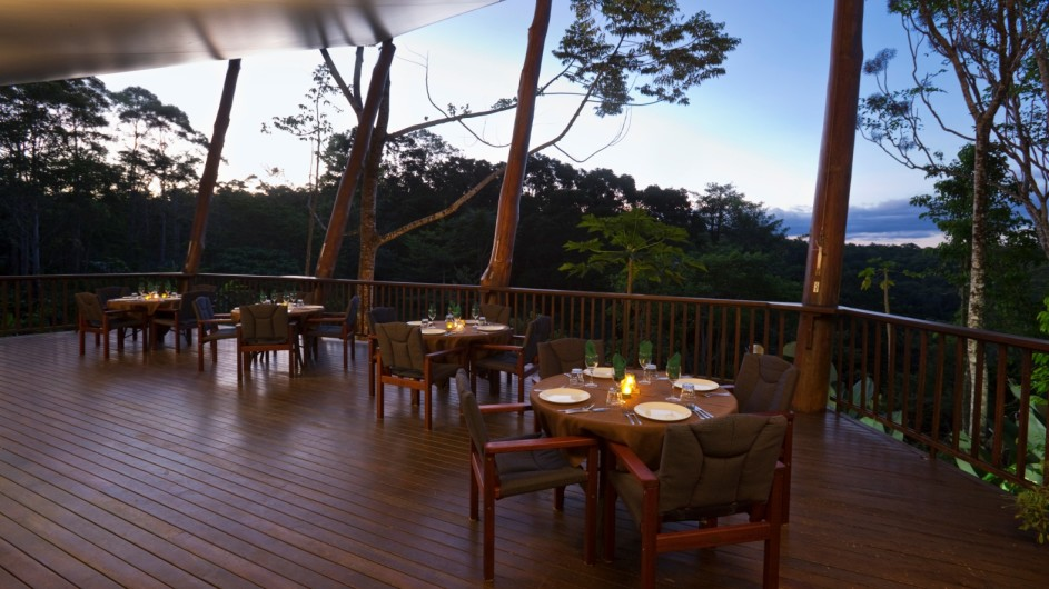 Australien Atherton Tablelands Rose Gums Wilderness Retreat Restaurant