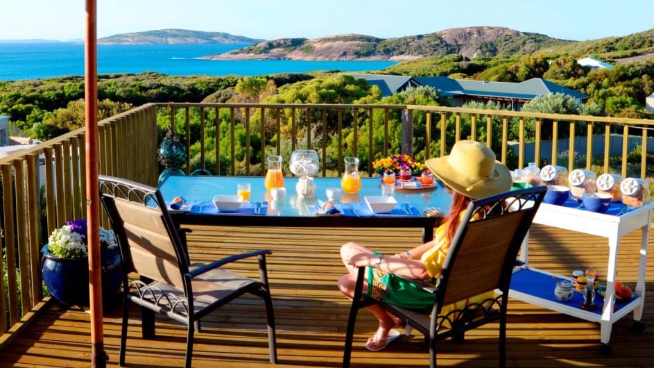 Australien Esperance B&B by the Sea Frühstück auf der Terrasse
