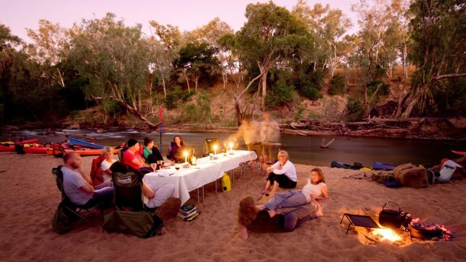Australien Katherine River Rastplatz am Abend