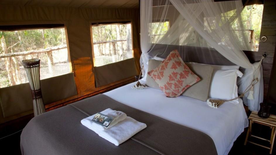 Australien Jervis Bay Paperbark Camp Deluxe Zelt innen