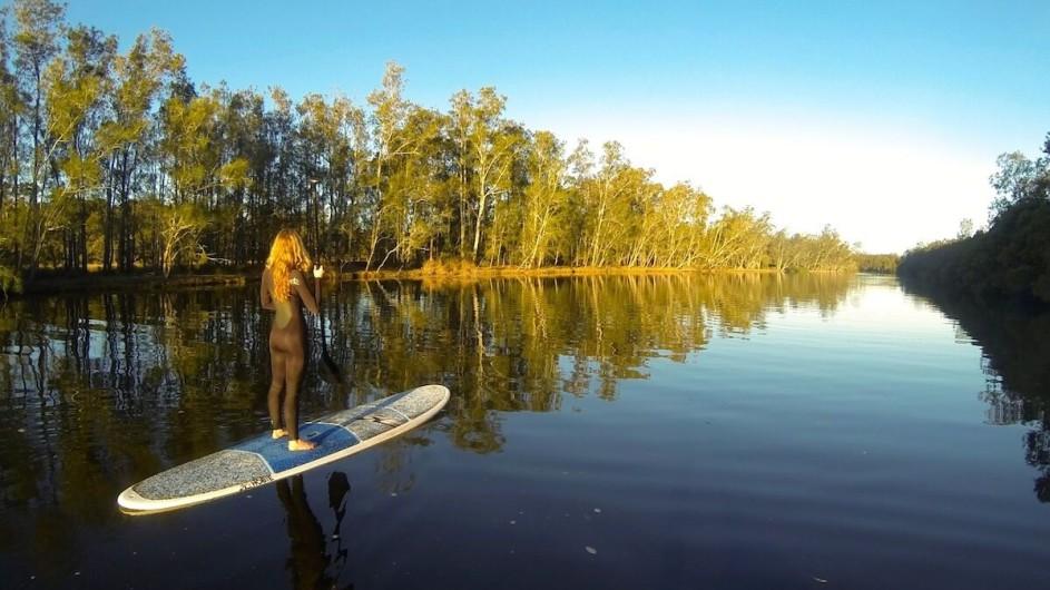 Australien Jervis Bay Paperbark Camp Paddeln auf dem Creek