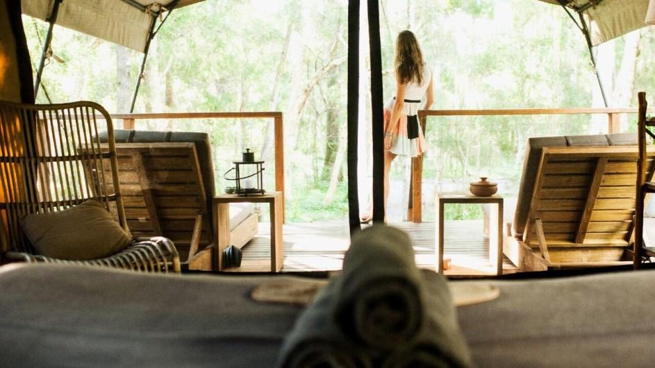 Australien Jervis Bay Paperbark Camp Zeltausblick