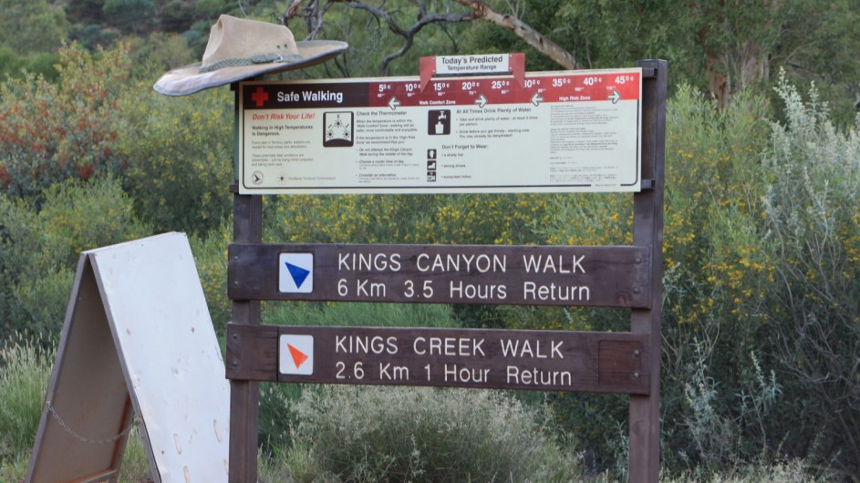 Australien Red Center Kings Canyon Walk