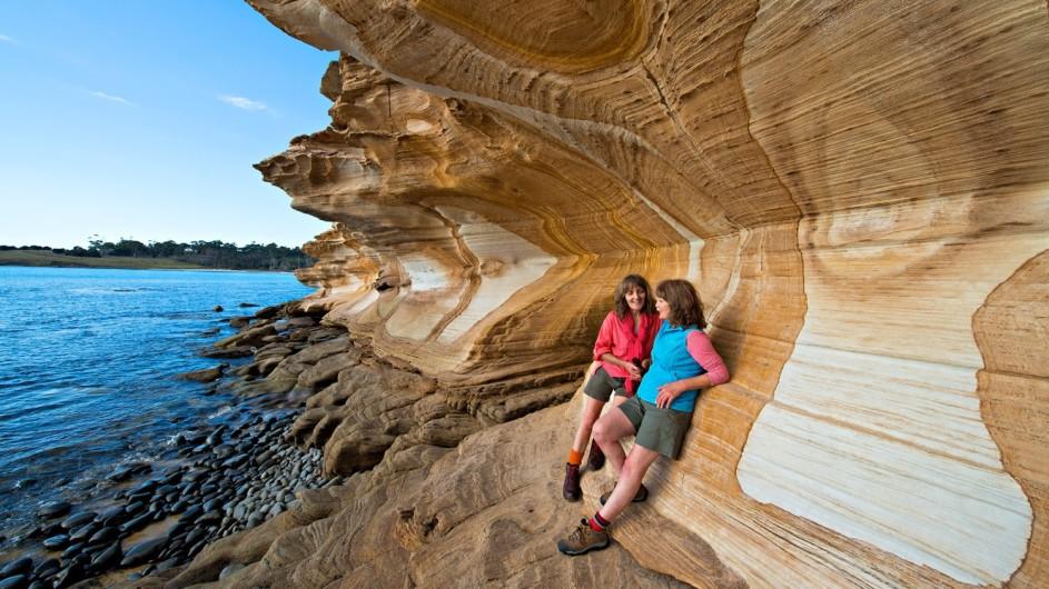 Australien Tasmanien Maria Island Painted Cliffs