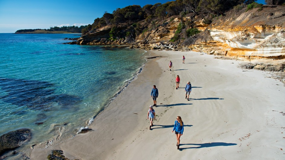 Australien Tasmanien Maria Island Walk am Strand