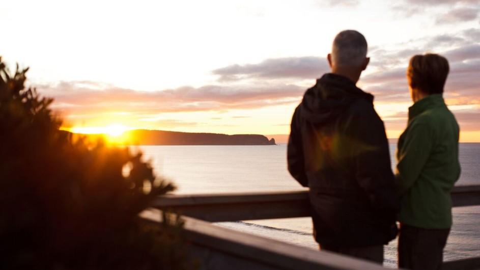 Australien Tasmanien Sonnenuntergang Bruny Island