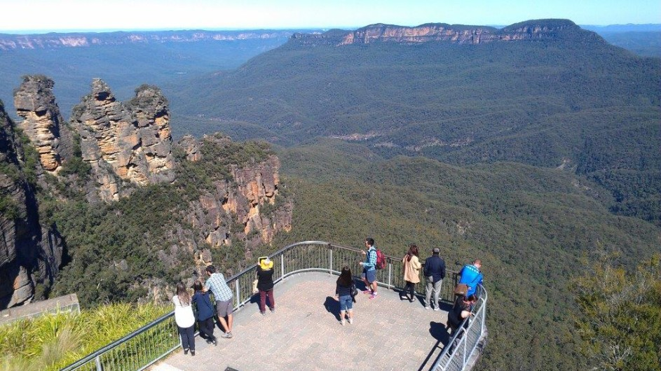 Australien Aussichtsplattform Blue Mountains
